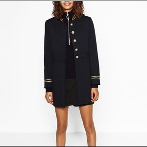 Zara Military Coat Navy Size XS
